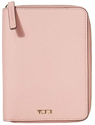 Tumi Belden Zip-Around Passport Case (Blush) Handbags