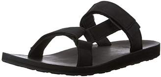 Teva Men's Original Universal Slide Leather Sports and Outdoor Lifestyle Sandal, Black, (40.5 EU)