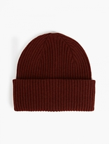 Paul Smith Burgundy Cashmere Beanie