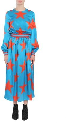 MSGM Star Print Maxi Dress
