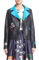 Mira Mikati Women's 'Pick Me' Hand Painted Leather Jacket