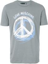 Love Moschino Peace print T-shirt - men - Cotton/Spandex/Elastane - M