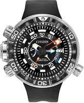Citizen Men's Eco-Drive Promaster Aqualand Depth Meter Black Polyurethane Strap Watch 53mm BN2029-01E