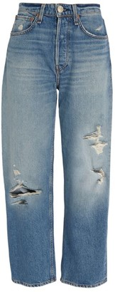 Rag & Bone Maya Distressed Straight Jeans