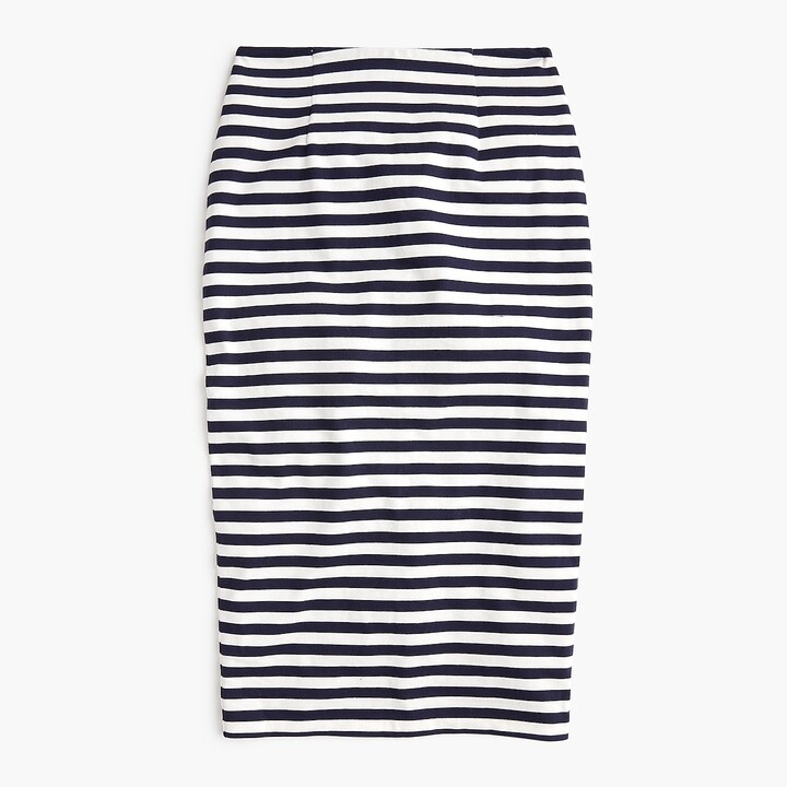 Thumbnail for your product : J.Crew Knit pencil skirt in stripe