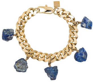 Märta Larsson Lapis Stone Charm Bracelet