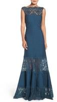Tadashi Shoji Women's Illusion Lace & Jersey Gown