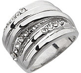 Dillard's Boxed Collection Crystal Stone Wrap Band Ring