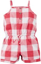 Carter's Tank Romper (Baby) - Red Gingham-12 Months