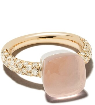 Pomellato 18kt Rose Gold Diamond Stone Ring