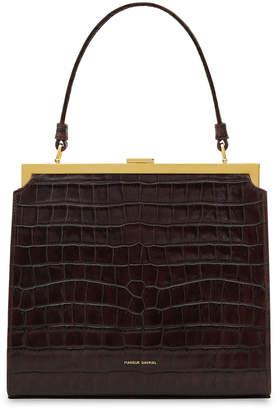 Mansur Gavriel Elegant Crocodile-Embossed Top Handle Bag