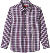 Joe Fresh Kid Boys' Plaid Shirt, Green (Size S)