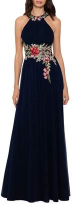 Betsy & Adam Floral Embroidered Gown