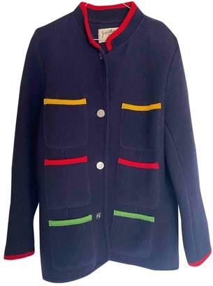 JC de CASTELBAJAC Navy Wool Jacket for Women Vintage