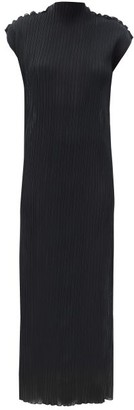 Jil Sander Translucent Pleated-jersey Dress - Black