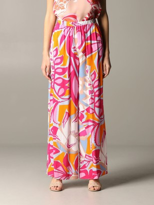 Emilio Pucci Pants Trousers With Samoa Print