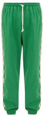Gucci GG-jacquard Side-stripe Technical Trackpants - Green