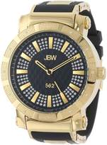 "JBW Men's JB-6225-J ""562"" Pave Dial Diamond Rubber Band Watch"