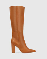 Thumbnail for your product : Wittner - Women's Brown Long Boots - Handy Leather Block Heel Long Boots - Size One Size, 40 at The Iconic