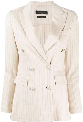 Circolo 1901 Striped Double-Breasted Blazer