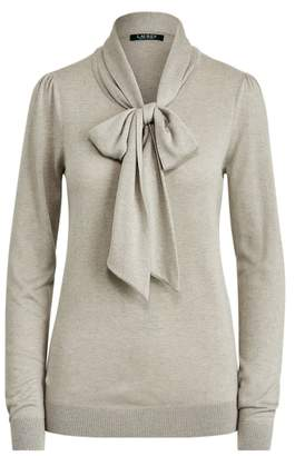Ralph Lauren Knit Tie-Neck Jumper
