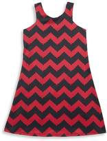Un Deux Trois Girl's Printed Shift Dress