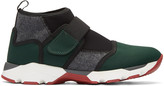 Marni Green Neoprene High-top Sneakers