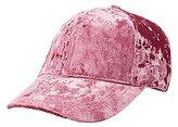 Charlotte Russe Crushed Velvet Baseball Hat
