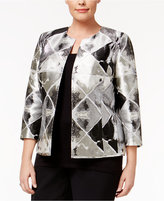 Anne Klein Plus Size Metallic Jacquard Jacket