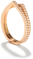 Repossi Antifer Two-Row Ring with Diamonds in 18K Gold