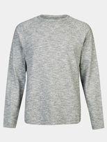 Burton Burton Grey Textured Cotton Jersey Loungewear Top