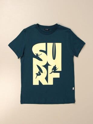 Il Gufo T-shirt In Stretch Cotton With Maxi Print