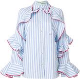Off-White ruffle detail shirt
