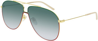 Gucci Gradient Aviator Sunglasses