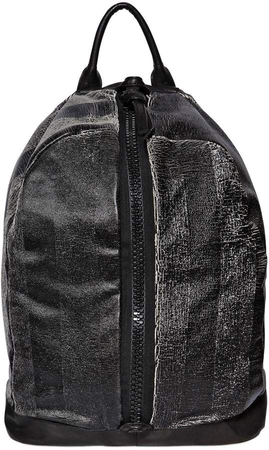 Giorgio Brato Shiny Laser-Cut Leather Backpack