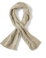 Classic Kids Chunky Cable Knit Scarf-Ivory