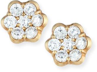 Bayco 18K Gold & Diamond Floral Stud Earrings