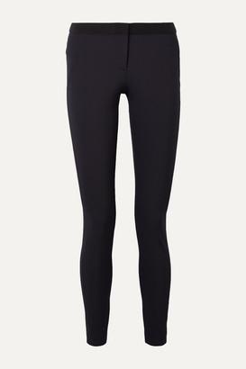 Veronica Beard Stretch-crepe Slim-leg Pants - Navy