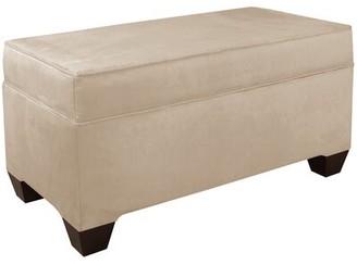 Wayfair Custom UpholsteryTM Upholstered Flip Top Storage Bench Wayfair Custom Upholstery Body Fabric: Velvet Cocoa