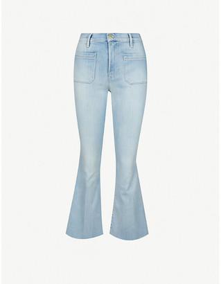 Frame Le Bardot Crop Flare mid-rise stretch-organic denim jeans