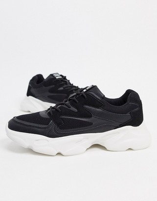 Jack and Jones chunky sneaker in black and white