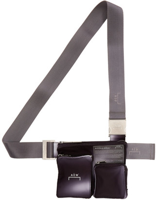 A-Cold-Wall* SSENSE Exclusive Black and Grey Utility Holster Bag