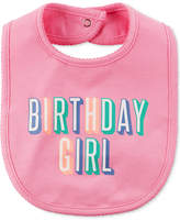 Carter's Birthday Girl Cotton Bib, Baby Girls