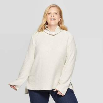 Ava & Viv Women's Plus Size Long Sleeve Turtleneck Sweatshirt - Ava & VivTM