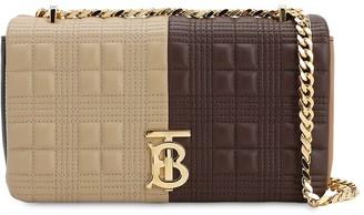 Burberry Sm Lola Color Block Leather Shoulder Bag