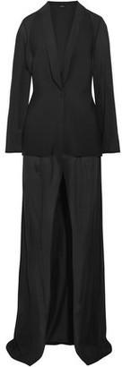 La Perla Stretch-silk Chiffon And Neoprene Robe