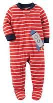 Carter's Fleece Spaceship Footie Pajamas in Red