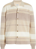 Maison Margiela Striped Cotton Cardigan