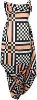Vivienne Westwood bunched check dress - women - Cotton - 40