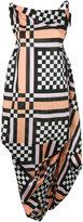 Vivienne Westwood bunched check dress - women - Cotton - 44